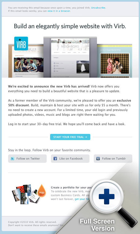 Full website review unmatched style for Virb templates