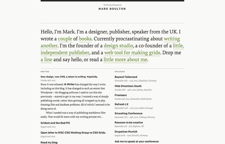 Mark Boulton Unmatched Style